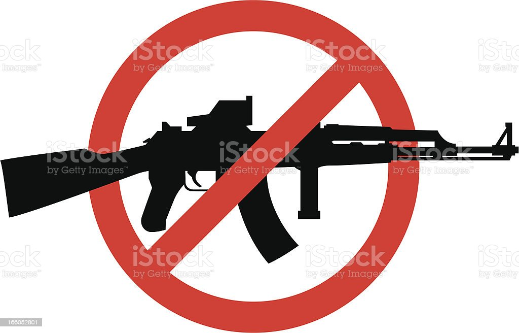 no assault rifles royalty-free stock vector art