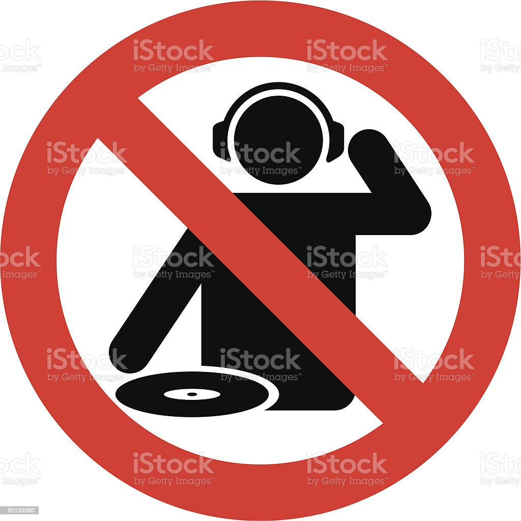 No dj zone royalty-free no dj zone stock vector art & more images of 45 rpm