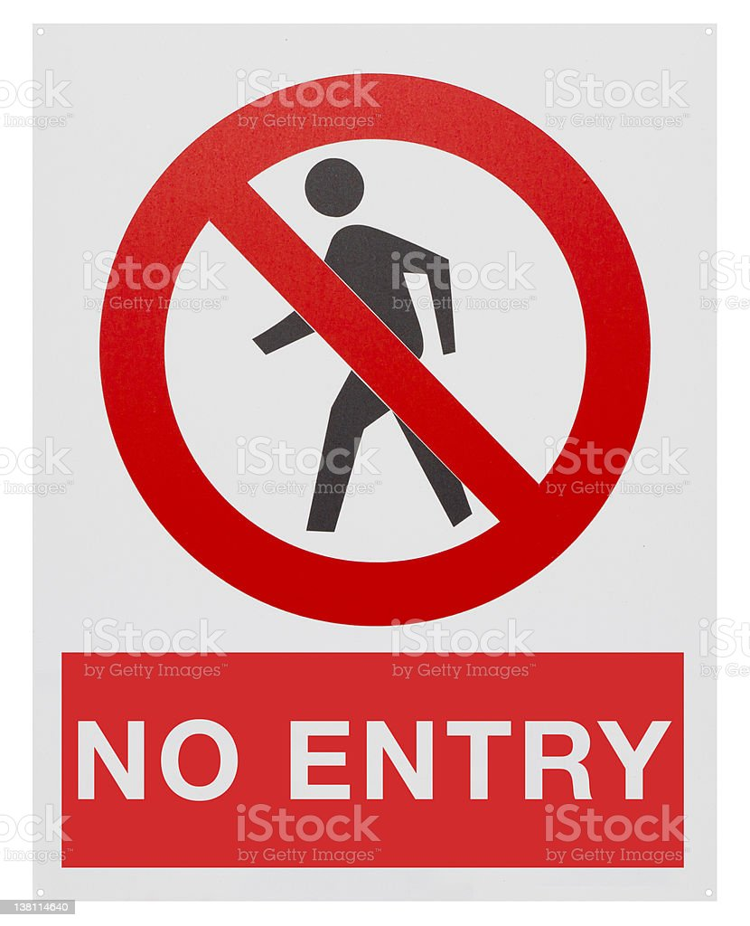 No entry vector art illustration