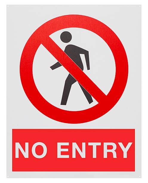Prohibido el acceso - ilustración de arte vectorial