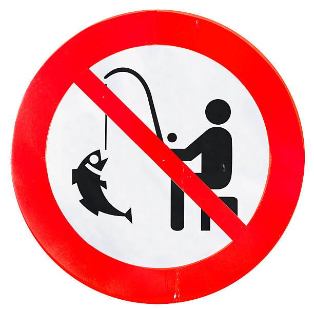 Señal de prohibido pescar - ilustración de arte vectorial