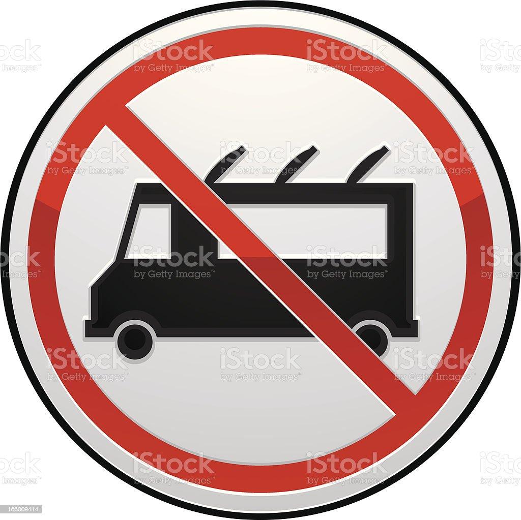 no food truck sign royalty-free stock vector art