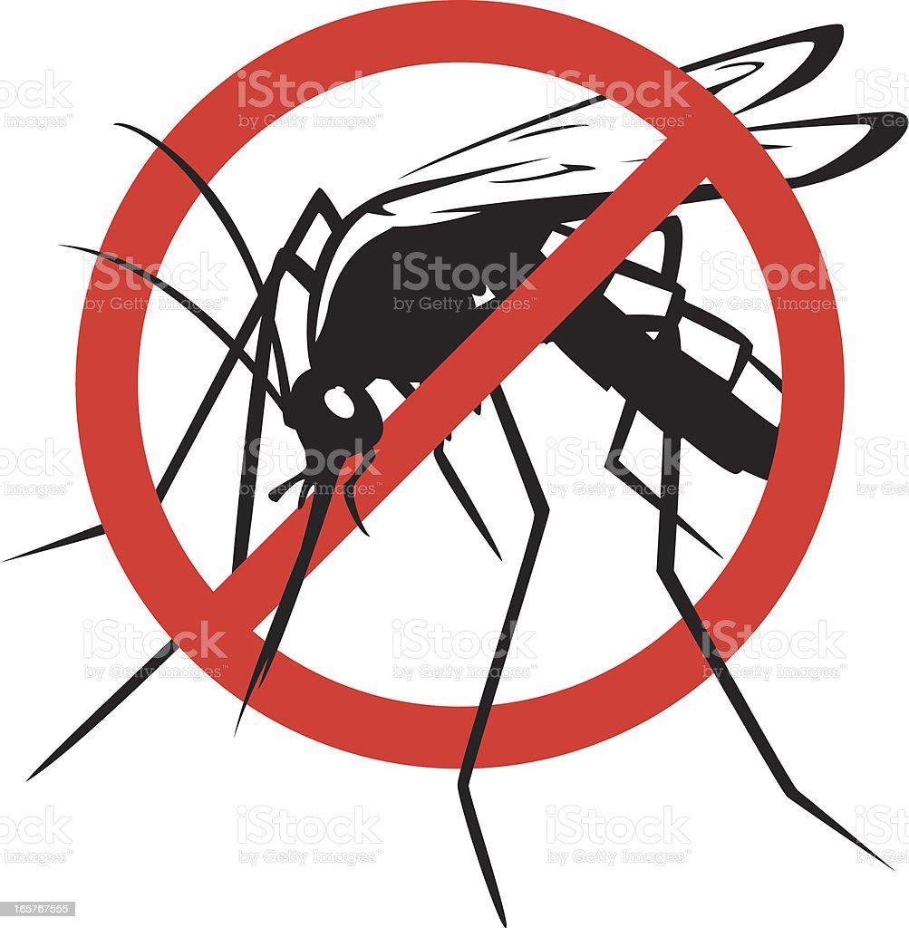 no mosquitos vector art illustration