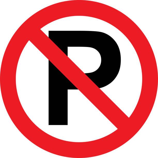 ilustrações de stock, clip art, desenhos animados e ícones de no parking sign - driveway, no people