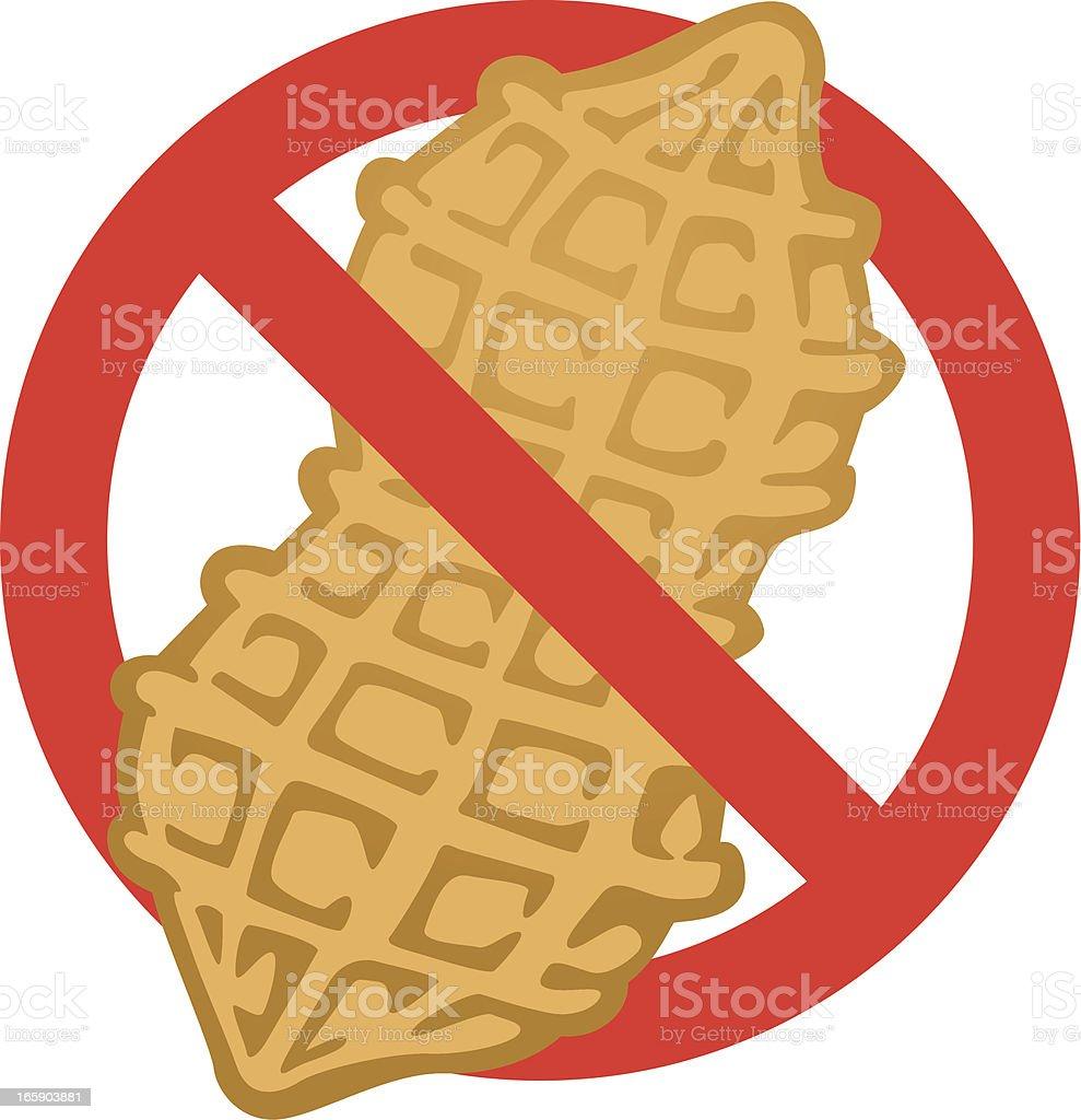 no peanuts royalty-free stock vector art