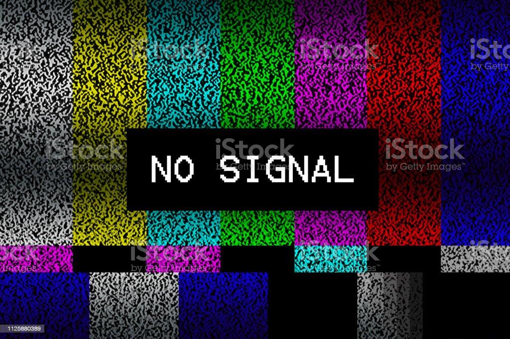 No Signal Tv Test Pattern Background Stock Illustration