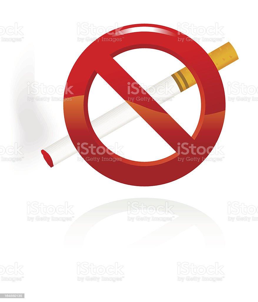 no smoking signal royalty-free stock vector art