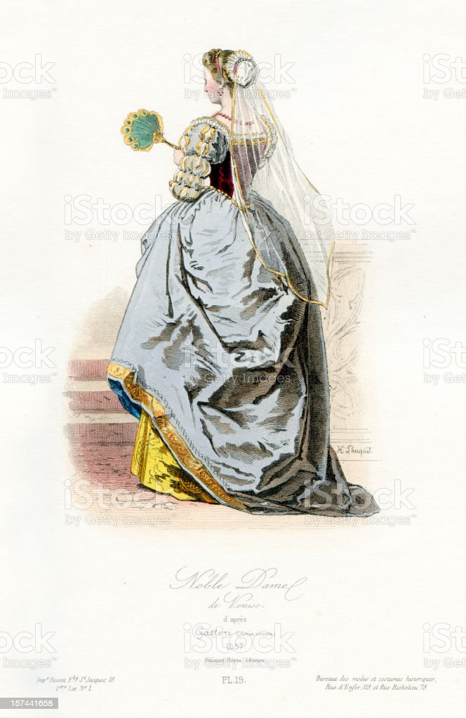 Noble Venetian Lady royalty-free stock vector art