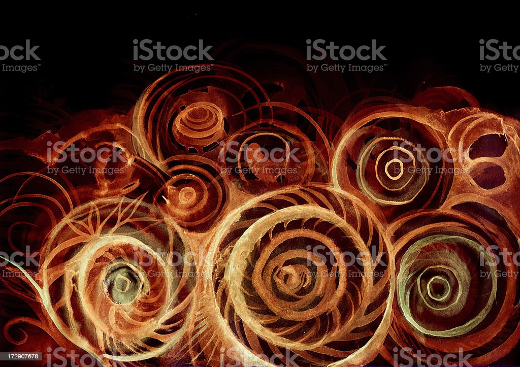 nocturnal shells royalty-free stock vector art