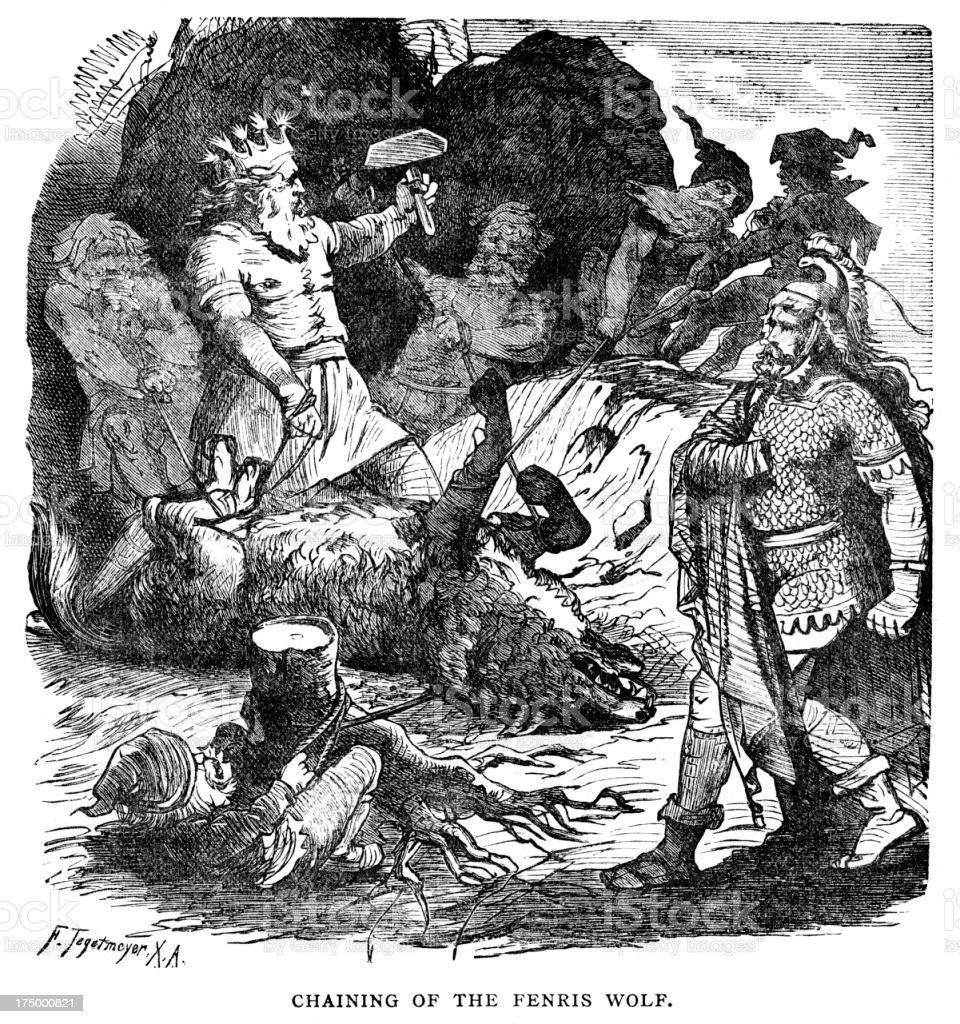 norse mythology fenris wolf ������������ �� �� 175000821 istock