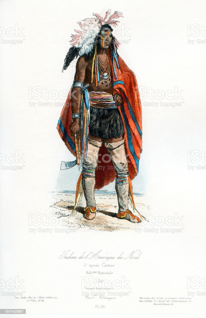 North American Indian Traditional Clothing royalty-free stock vector art