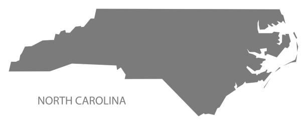 North Carolina Map Clip Art Vector Images Illustrations IStock - North carolina us map