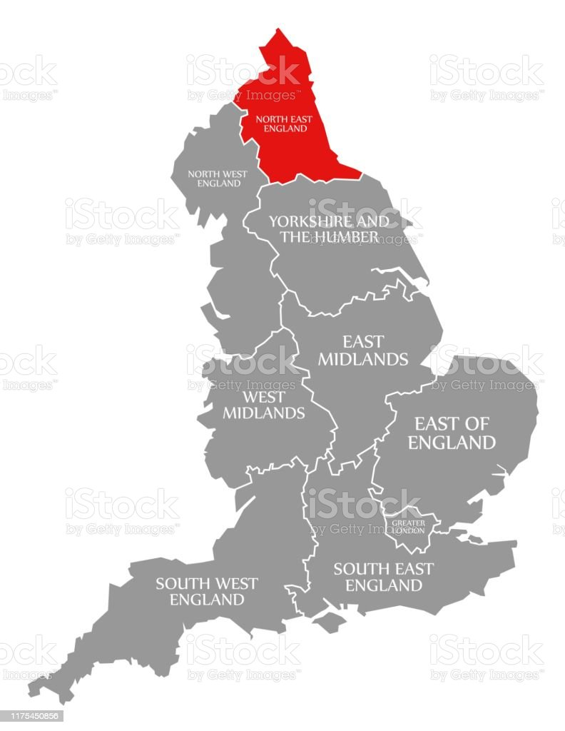North East England Red Highlighted In Map Of England Uk ... on map of lake district, map of england regions, map of cumbria england, west midlands england, map of cheshire, map of manchester, map of uk, map of northern england, map of east of england, map of yorkshire, map of north east, map of england counties, east midlands, map of great britain, map of england with towns, map of liverpool england, east of england, map of isle of wight england, republic of ireland, map of staffordshire, st helens, map of north mid wales, south west england, map of ireland & northern ireland, map of lancashire england,