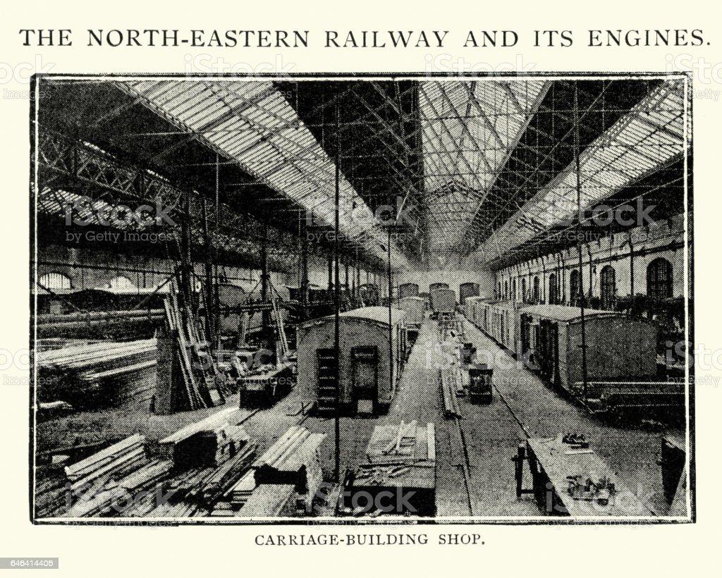 North Easten Railway Factory vector art illustration