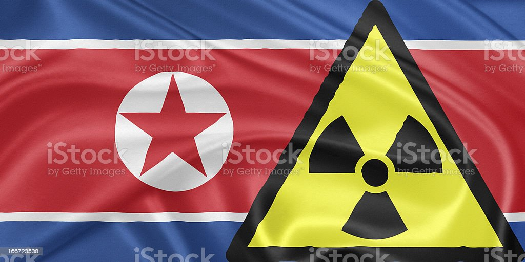 North Korea and nuclear royalty-free stock vector art