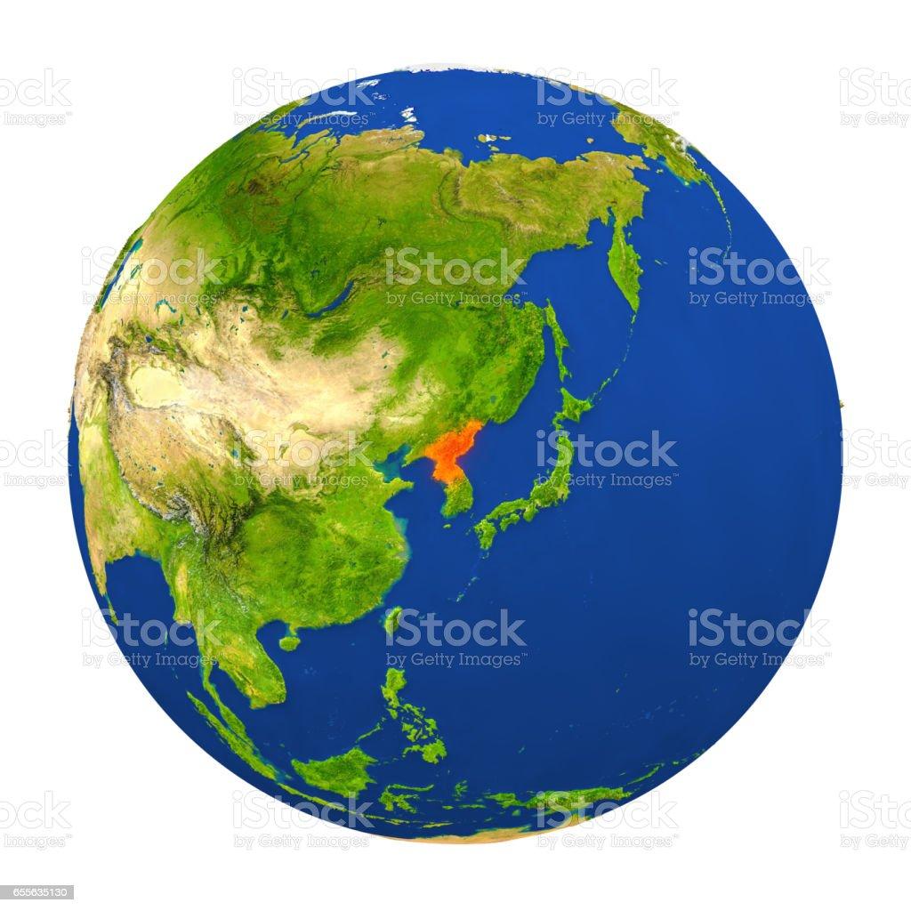 North korea highlighted on earth stock vector art more images of north korea highlighted on earth royalty free north korea highlighted on earth stock vector art gumiabroncs Images