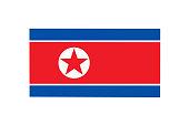 North Korean flag.