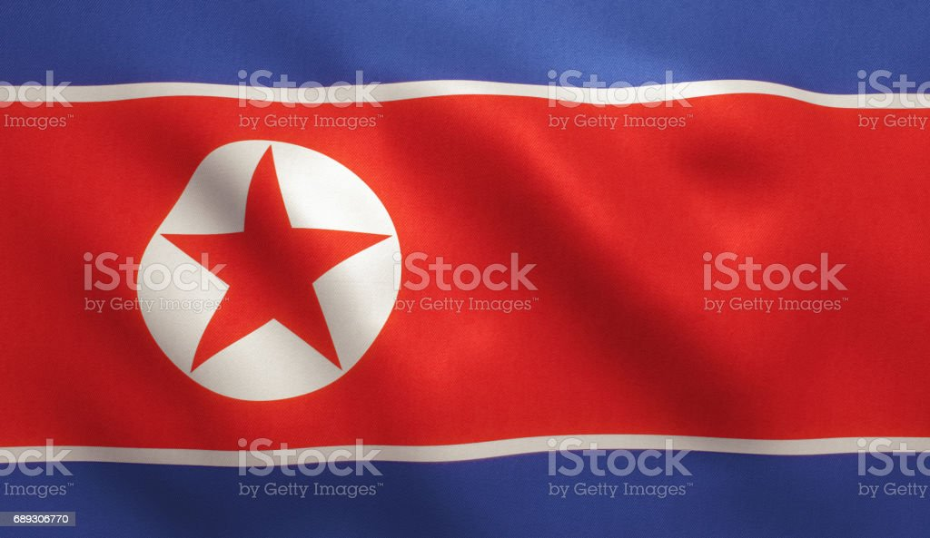 North Korean Flag vector art illustration