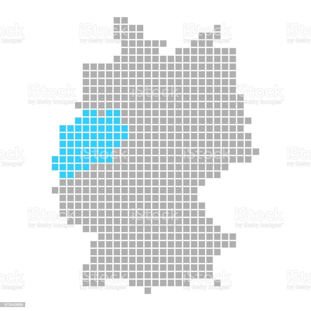 North Rhinewestphalia On Simple Map Of Germany stock vector art