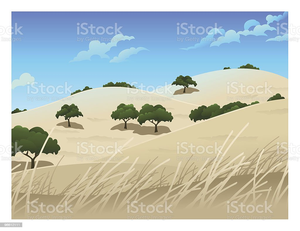 Northern California Landscape royalty-free stock vector art