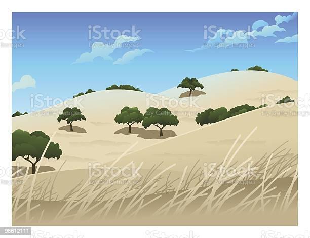 Northern California Landschaft Stock Vektor Art und mehr Bilder von Anhöhe