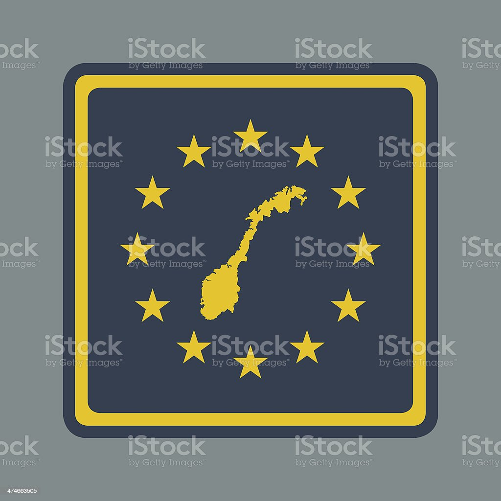 Norway European flag button royalty-free stock vector art