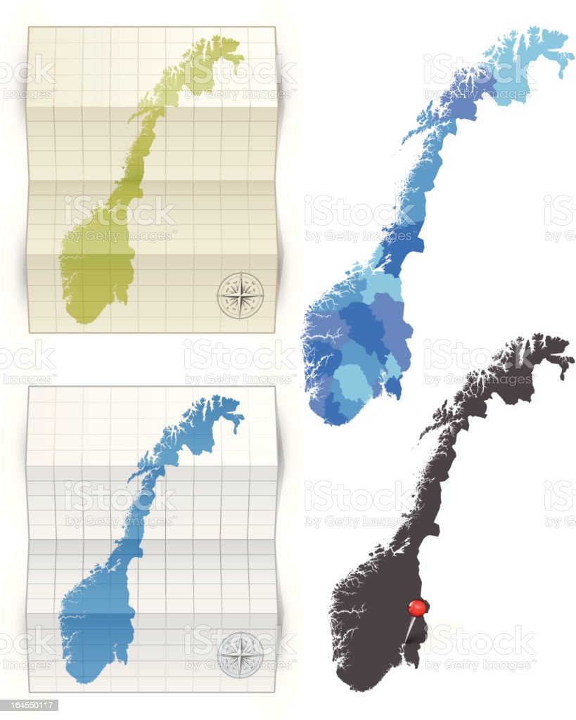 Norway map royalty-free stock vector art