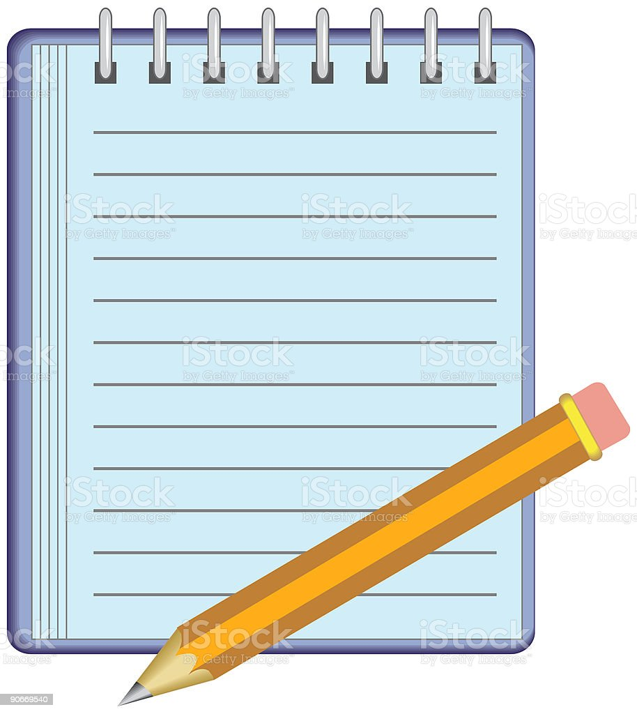 Note Pad royalty-free note pad stock vector art & more images of art