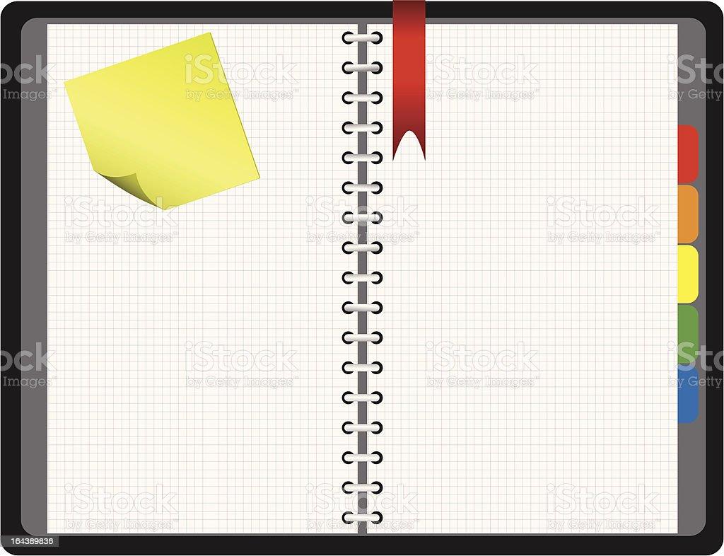 Notepad, vector illustration vector art illustration