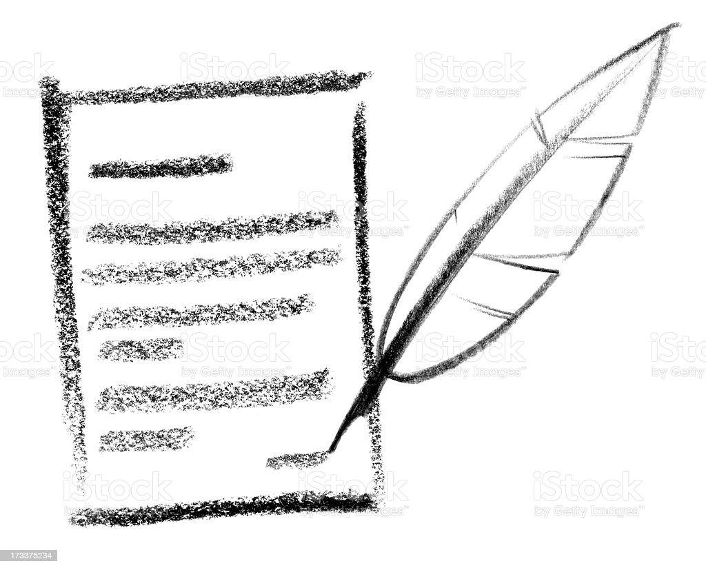notice icon vector art illustration