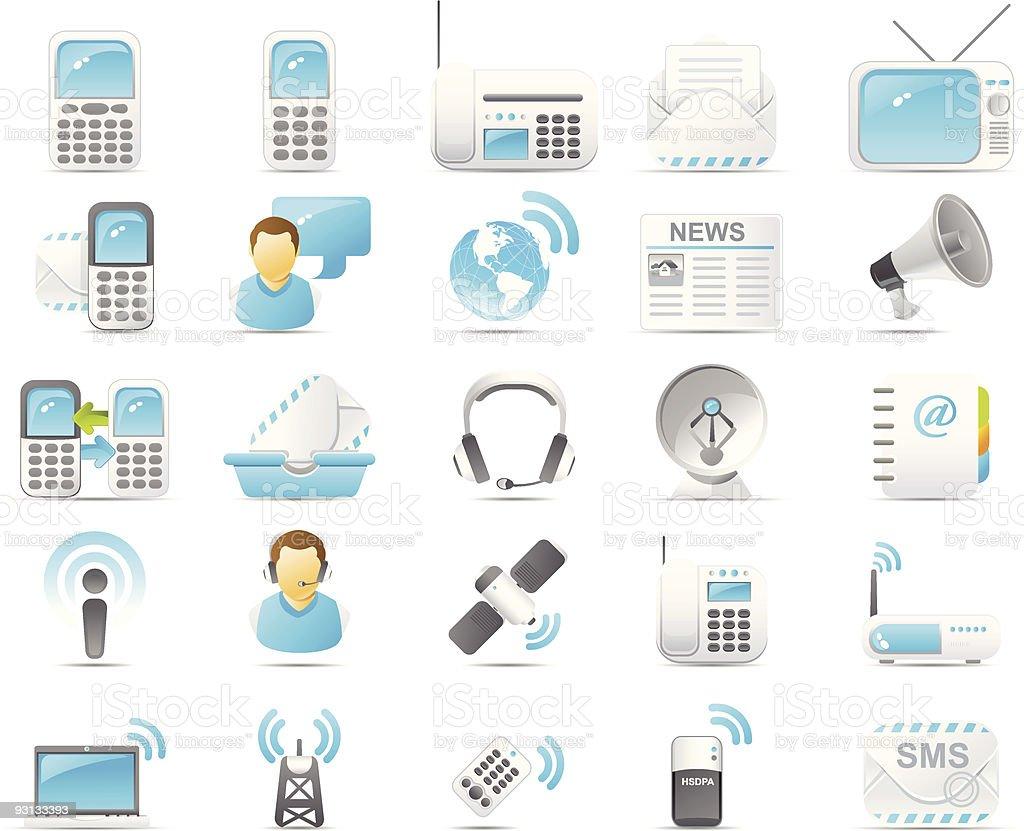 Nouve icon set: Wireless and communication technology royalty-free nouve icon set wireless and communication technology stock vector art & more images of address book