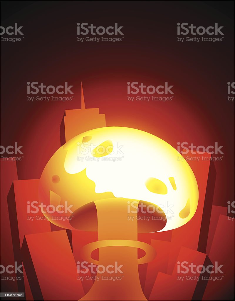 Nuclear Annihilation royalty-free stock vector art