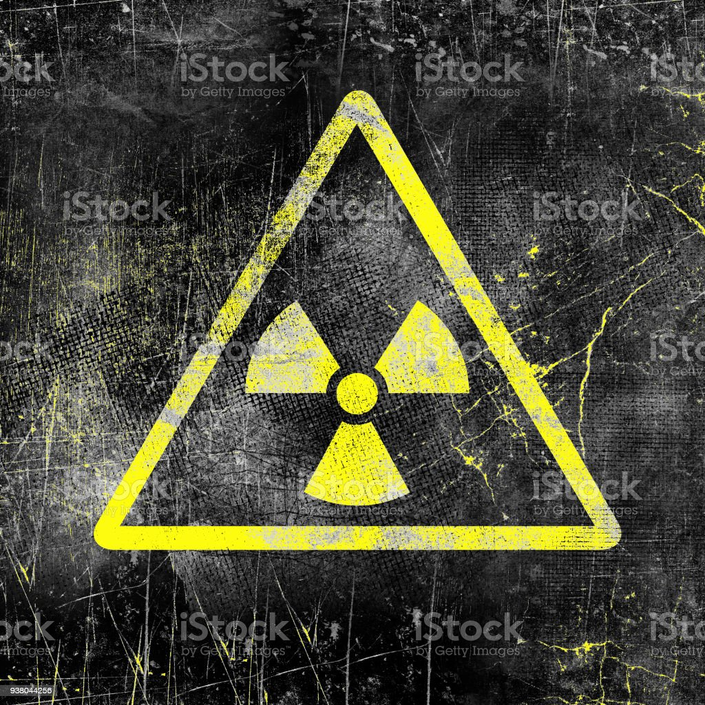 Nuclear Radiation Sign On Old Grungy Wall Symbol Of Radiation ...