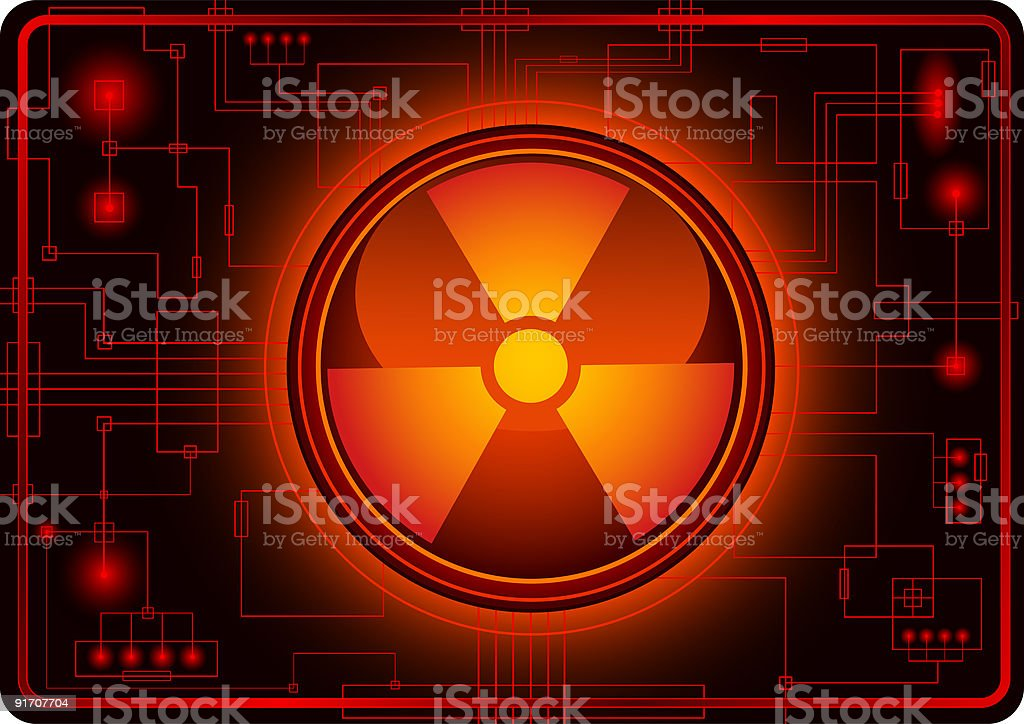Nuclear sign royalty-free stock vector art