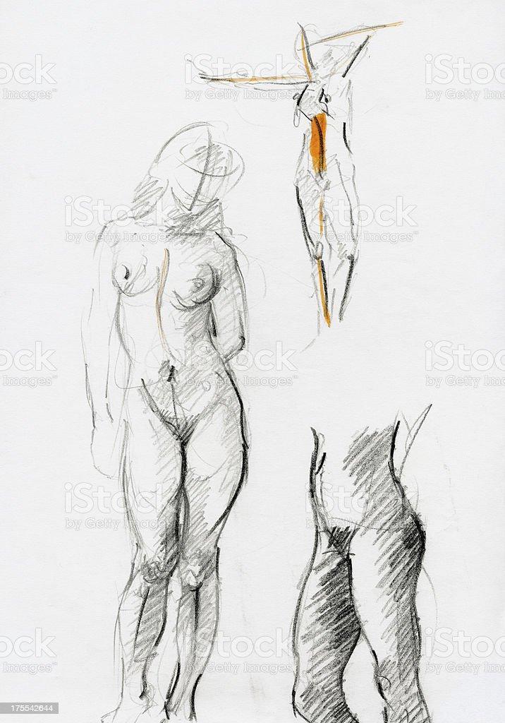 Dessin Femme Nue Cliparts Vectoriels Et Plus D Images De Abstrait