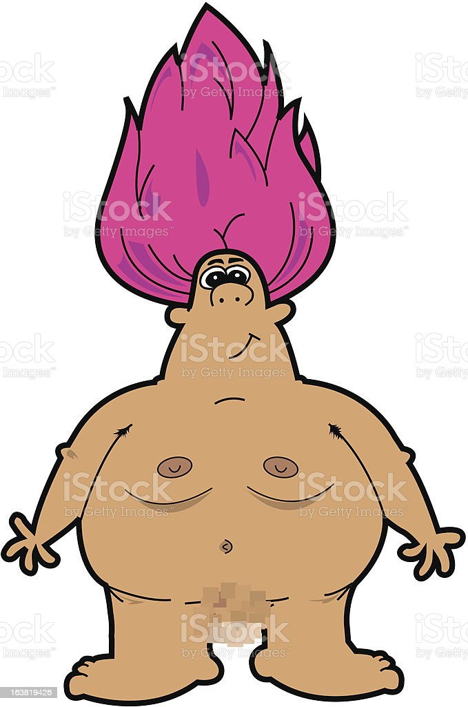 Nudist vector art illustration