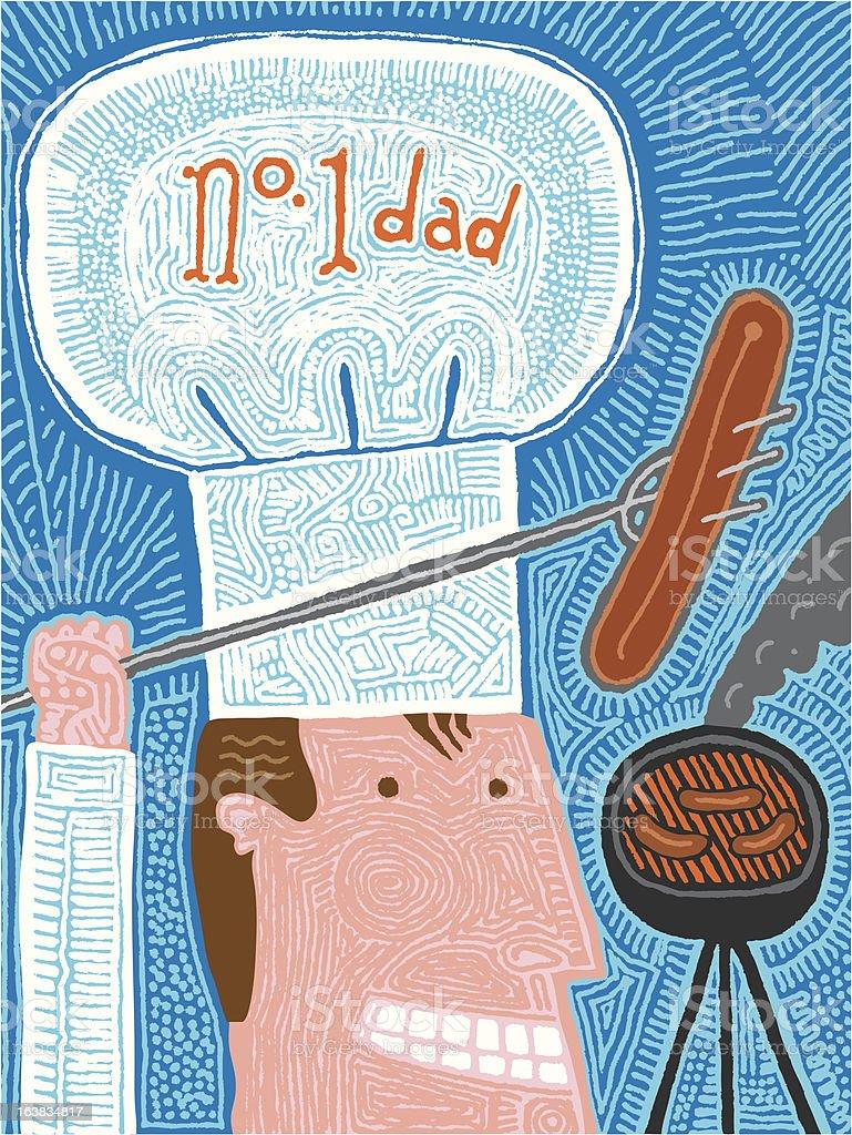 Number 1 Dad vector art illustration