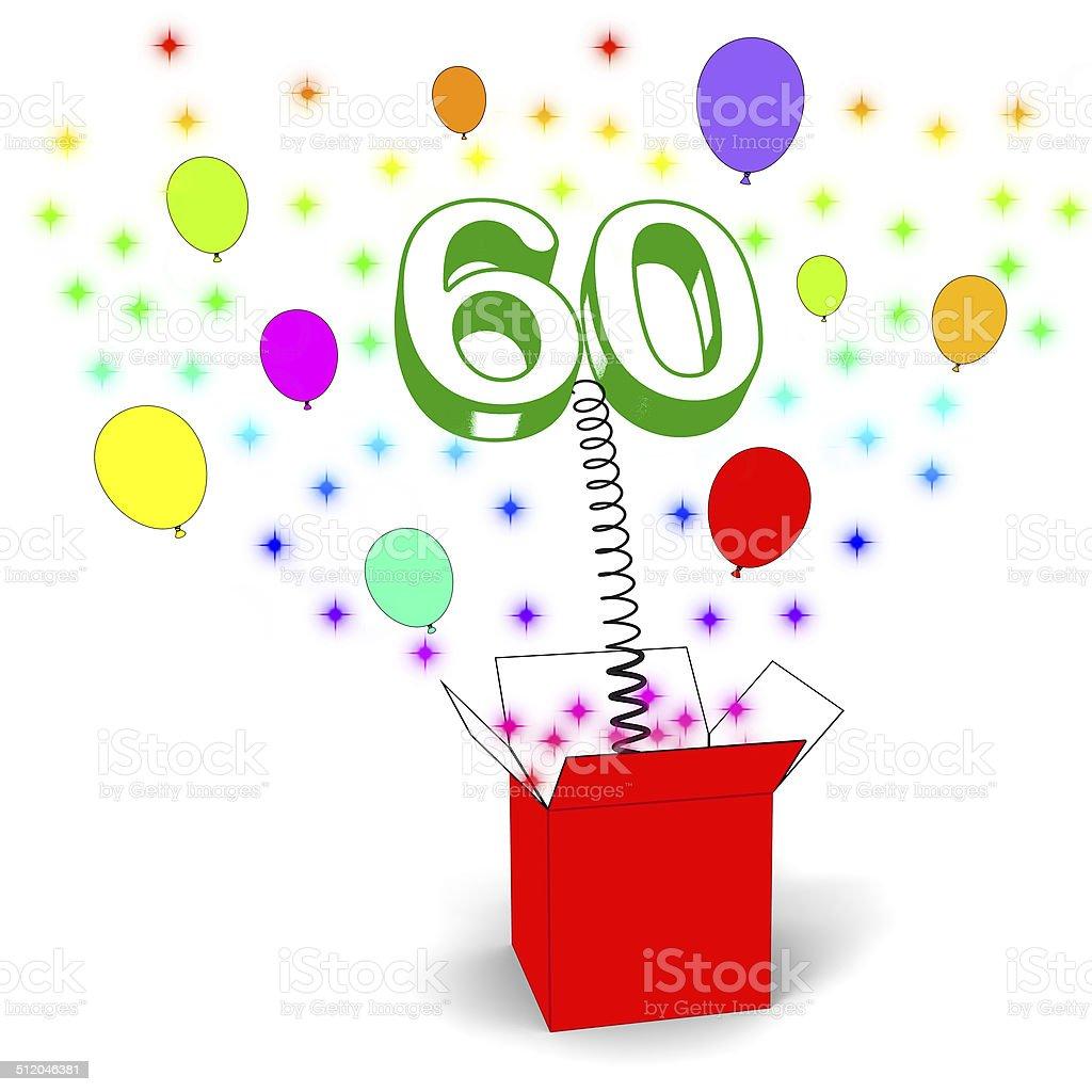 Super Numero 60 Sorpresa Casella Mostra Anziani Festa A Sorpresa O  EF54