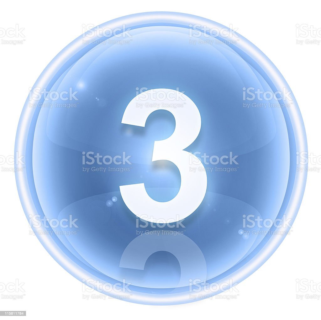 number three icon ice, isolated on white background royalty-free number three icon ice isolated on white background stock vector art & more images of arranging