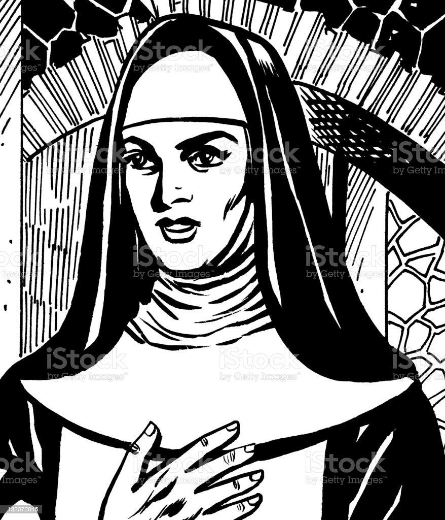 Nun royalty-free stock vector art
