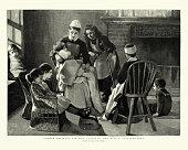 istock Nurse looking after sick children, Victorian 19th Century 1219769777