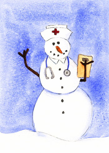 Nurse Snowman