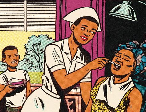 Nurse Taking Temperature of a Woman