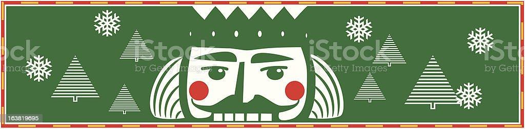 nutcracker ballet banner/header/footer royalty-free stock vector art
