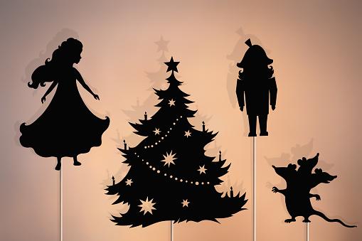Nutcracker Christmas storytelling, shadow puppets