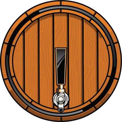 oak beer keg