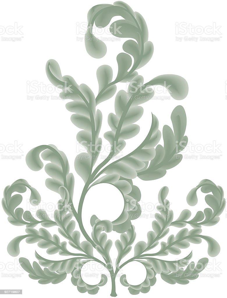 Oak Leaf scrolls royalty-free stock vector art