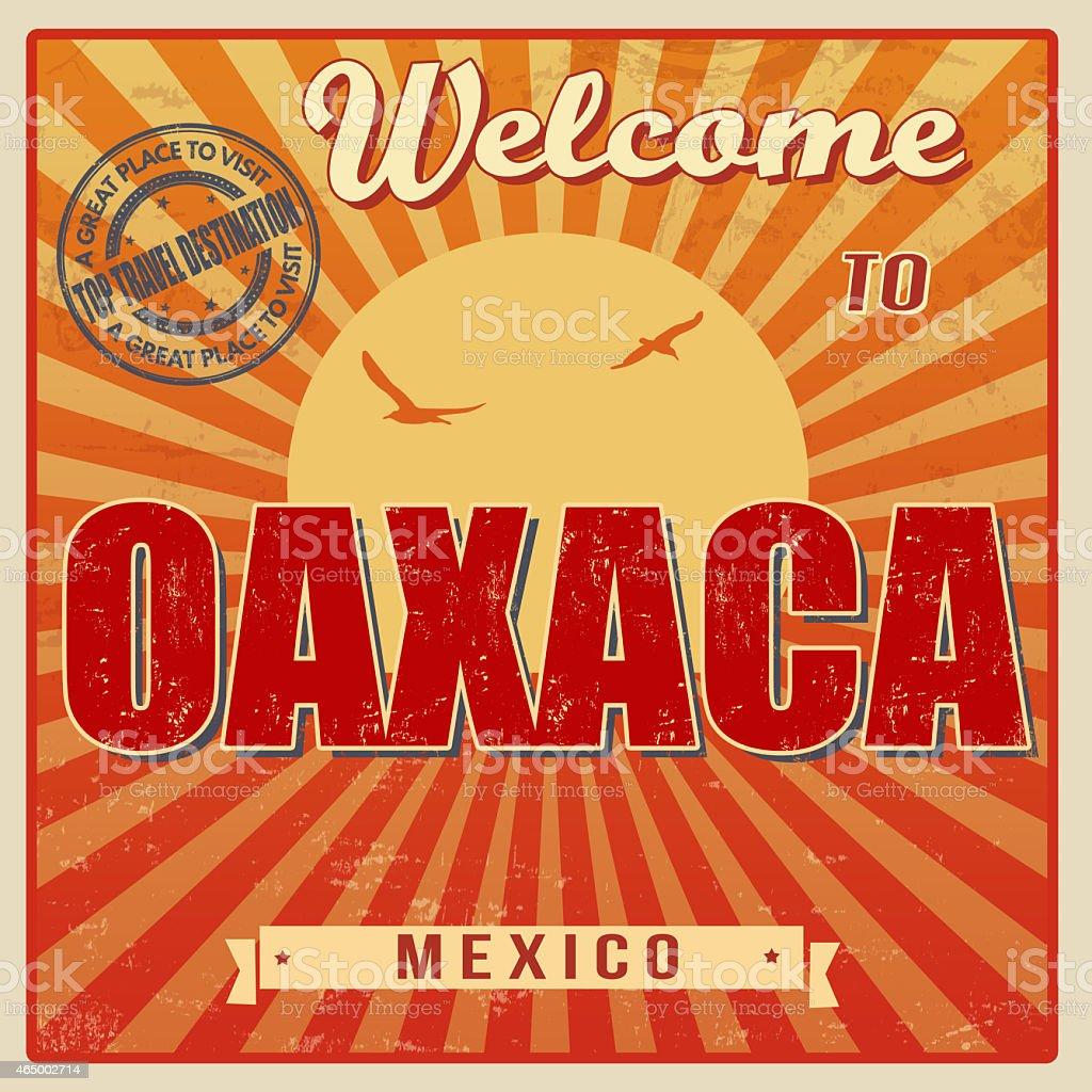 Oaxaca Mexico Vintage Poster Royalty Free Stock Vector Art Amp