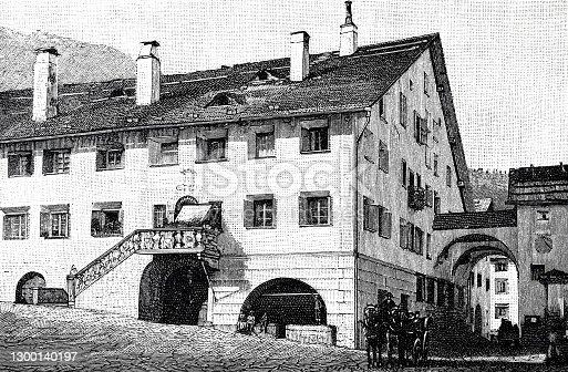 istock Oberengadin, Headquarters Planta, Switzerland 1300140197