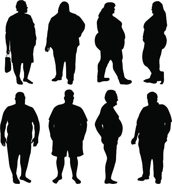 illustrazioni stock, clip art, cartoni animati e icone di tendenza di obesità epidemia - obesity